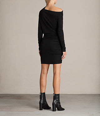 Womens Brisa Dress (Black) - Image 7