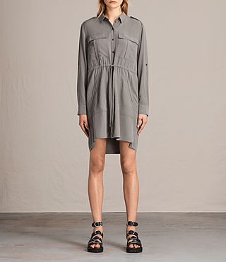Womens Millie Shirt Dress (Khaki Green) - product_image_alt_text_1