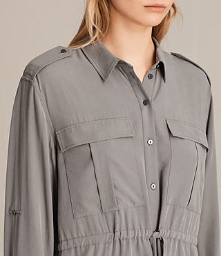 Womens Millie Shirt Dress (Khaki Green) - product_image_alt_text_2