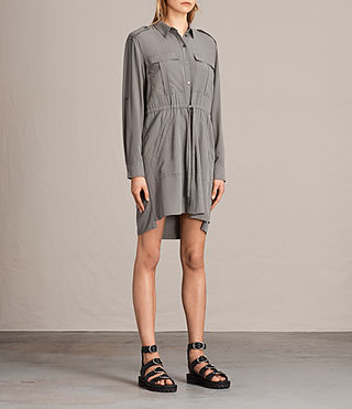 Womens Millie Shirt Dress (Khaki Green) - product_image_alt_text_3
