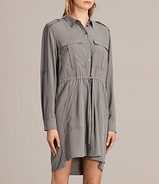 Womens Millie Shirt Dress (Khaki Green) - product_image_alt_text_4