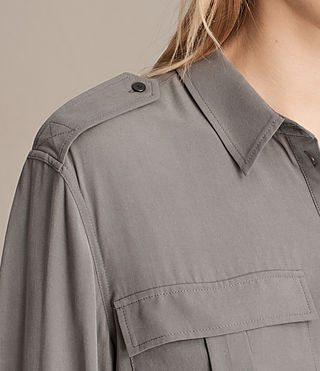 Womens Millie Shirt Dress (Khaki Green) - product_image_alt_text_5