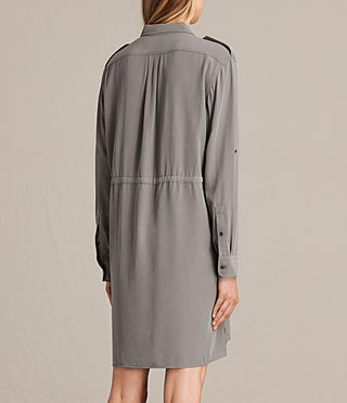 Womens Millie Shirt Dress (Khaki Green) - product_image_alt_text_7