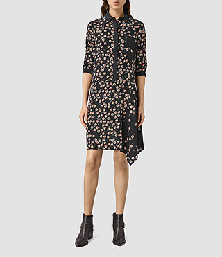Womens Biella Fraise Dress (Black)