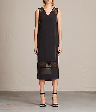 Womens Long Prism Dress (Black) - product_image_alt_text_1