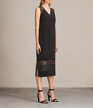 Womens Long Prism Dress (Black) - product_image_alt_text_4