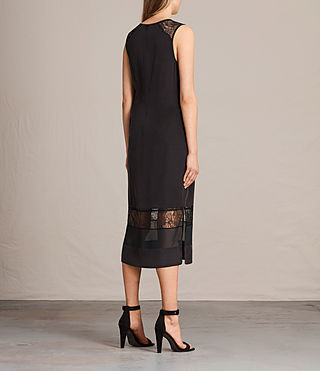 Womens Long Prism Dress (Black) - product_image_alt_text_6