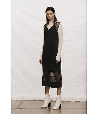 Womens Long Prism Dress (Black) - product_image_alt_text_7