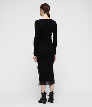 Womens Riviera Miro Long Sleeve Dress (Black) - product_image_alt_text_4