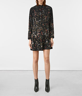 Femmes Lin Ls Nevada Dress (Black)