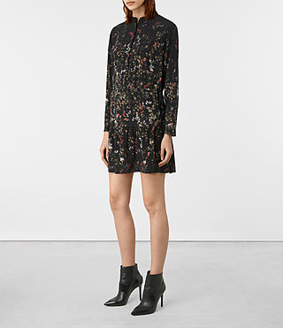 Donne Lin Ls Nevada Dress (Black) - product_image_alt_text_4