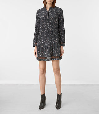 Damen Lin Blume Silk Dress (Grey)