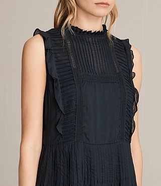 Womens Evelina Ruffle Dress (Black) - product_image_alt_text_2
