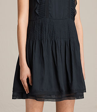 Womens Evelina Ruffle Dress (Black) - product_image_alt_text_3