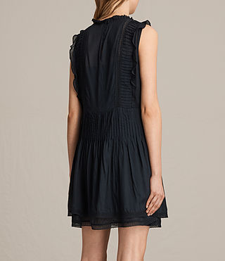 Womens Evelina Ruffle Dress (Black) - product_image_alt_text_7