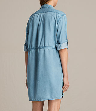 Women's Millie Shirt Dress (Indigo Blue) - product_image_alt_text_8