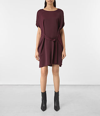 Damen Sonny Dress (Maroon) -