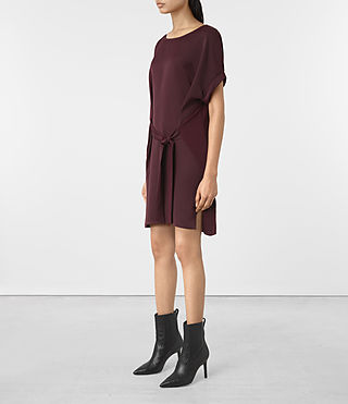 Damen Sonny Dress (Maroon) - product_image_alt_text_2
