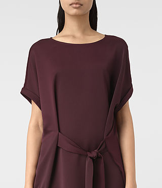Damen Sonny Dress (Maroon) - product_image_alt_text_3