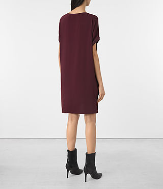 Damen Sonny Dress (Maroon) - product_image_alt_text_4