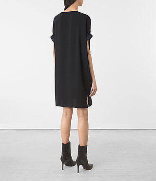 Womens Sonny Dress (Midnight Blue/Blk) - product_image_alt_text_5