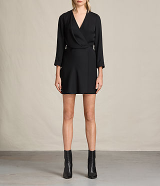 Womens Rila Dress (Black) - product_image_alt_text_1