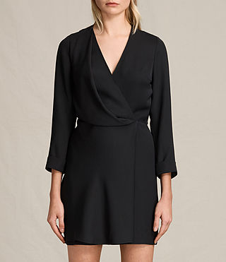 Womens Rila Dress (Black) - product_image_alt_text_2