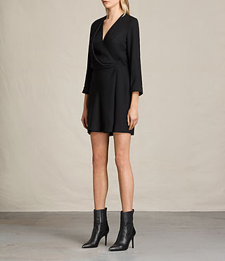 Womens Rila Dress (Black) - product_image_alt_text_4