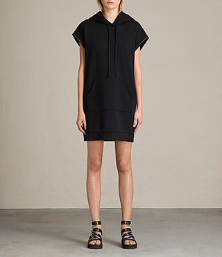 Womens Mod Sweat Dress (Black) - product_image_alt_text_1