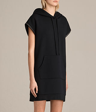 Women's Mod Sweat Dress (Black) - product_image_alt_text_3