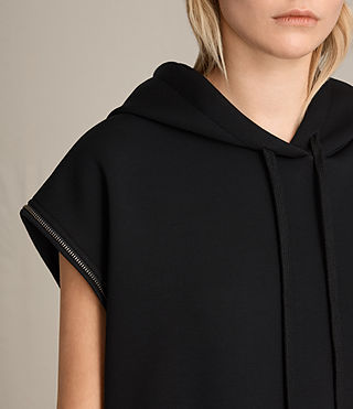 Womens Mod Sweat Dress (Black) - Image 4