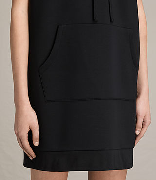 Womens Mod Sweat Dress (Black) - Image 5