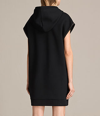 Womens Mod Sweat Dress (Black) - Image 7