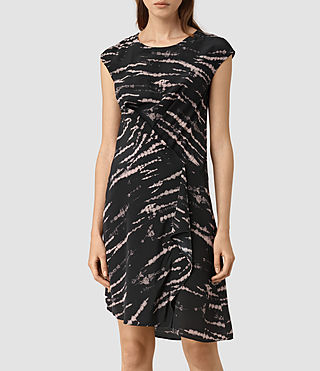 Damen Breeze Tye Dress (BLACK/PINK) - product_image_alt_text_3