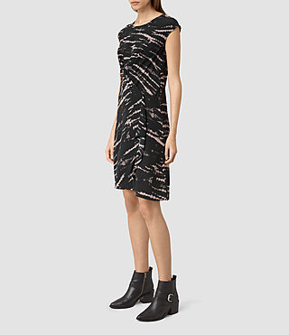 Damen Breeze Tye Dress (BLACK/PINK) - product_image_alt_text_4