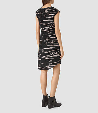Mujer Breeze Tye Dress (BLACK/PINK) - product_image_alt_text_5