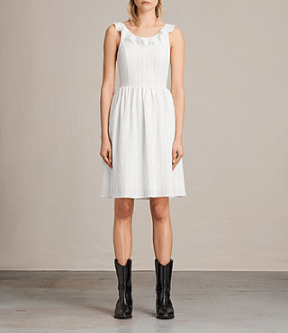 Femmes Robe Stina (Chalk White) -