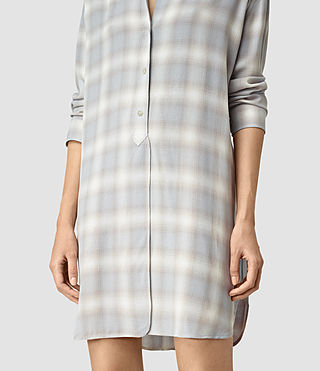 Womens Marlon Check Dress (Light Blue Check) - product_image_alt_text_2
