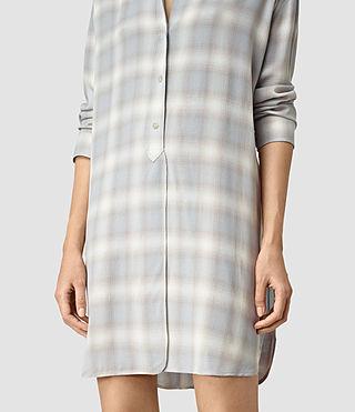 Womens Marlon Check Dress (Light Blue Check) - product_image_alt_text_2