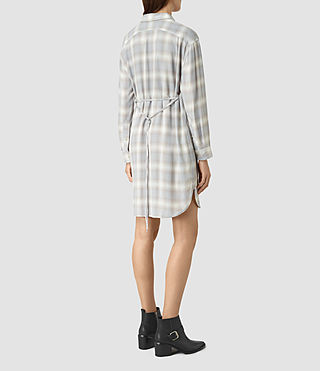 Womens Marlon Check Dress (Light Blue Check) - product_image_alt_text_5