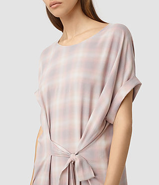 Womens Sonny Check Dress (Pink Check)