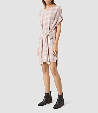 Donne Sonny Check Dress (Pink Check) - product_image_alt_text_2