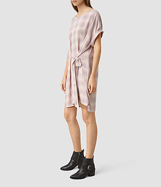Donne Sonny Check Dress (Pink Check) - product_image_alt_text_4