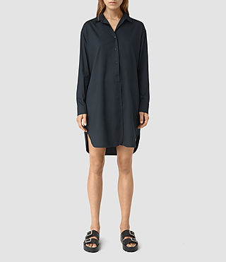 Mujer Marlon Shirt Dress (Ink Blue)