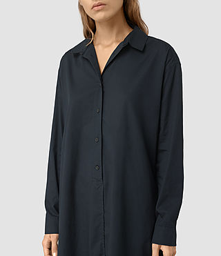 Womens Marlon Shirt Dress (Ink Blue) - product_image_alt_text_2