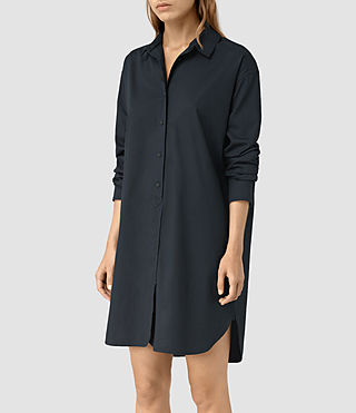 Womens Marlon Shirt Dress (Ink Blue) - product_image_alt_text_3