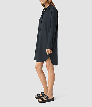 Womens Marlon Shirt Dress (Ink Blue) - product_image_alt_text_4