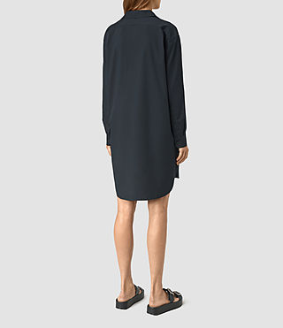Womens Marlon Shirt Dress (Ink Blue) - product_image_alt_text_5