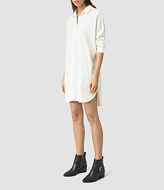 Femmes Marlon Shirt Dress (Chalk White) - product_image_alt_text_2