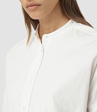 Donne Marlon Shirt Dress (Chalk White) - product_image_alt_text_3